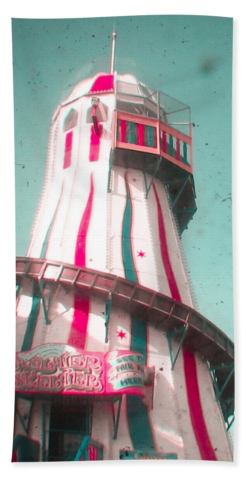 Helter Skelter Hand Towel featuring the photograph Helter Skelter by Cassia Beck