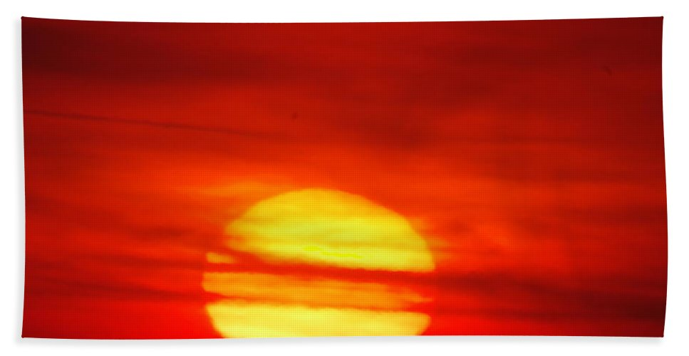 Sun Hand Towel featuring the photograph Here Comes The Sun by Jeff Swan