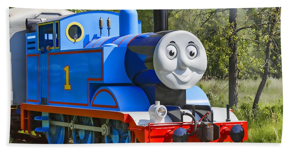 Thomas The Train Hand Towel featuring the photograph Here Comes Thomas The Train by Dale Kincaid