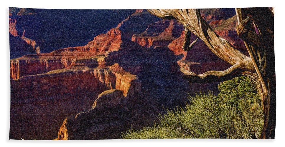 Angel Bath Sheet featuring the photograph Hermit Rest Grand Canyon National Park by Bob and Nadine Johnston