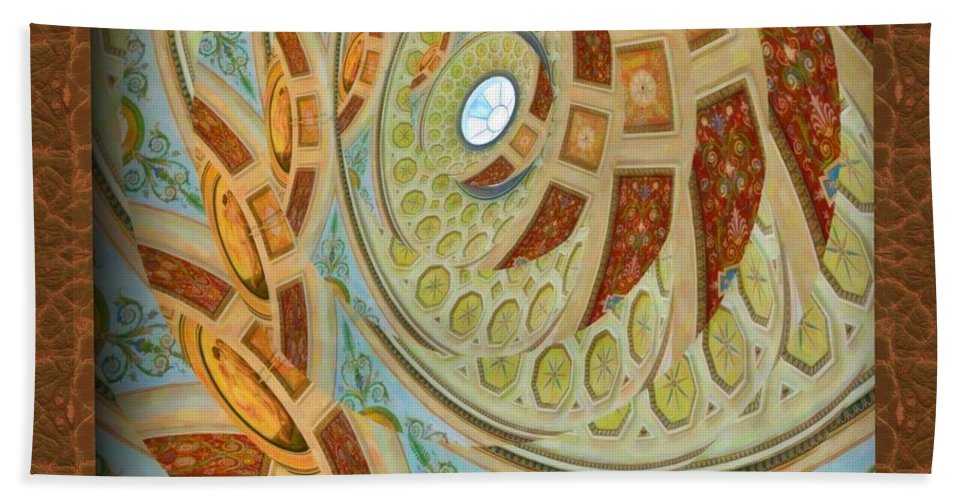 Hermitage Abstract Swirl Hand Towel featuring the digital art Hermitage Abstract Swirl by Liane Wright