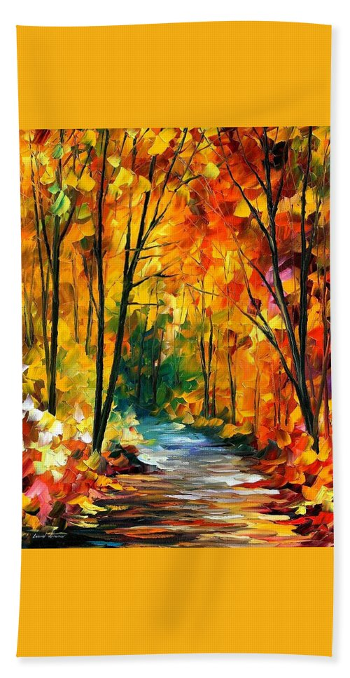 Oil Paintings Hand Towel featuring the painting Hidden Emotions - Palette Knife Oil Painting On Canvas By Leonid Afremov by Leonid Afremov