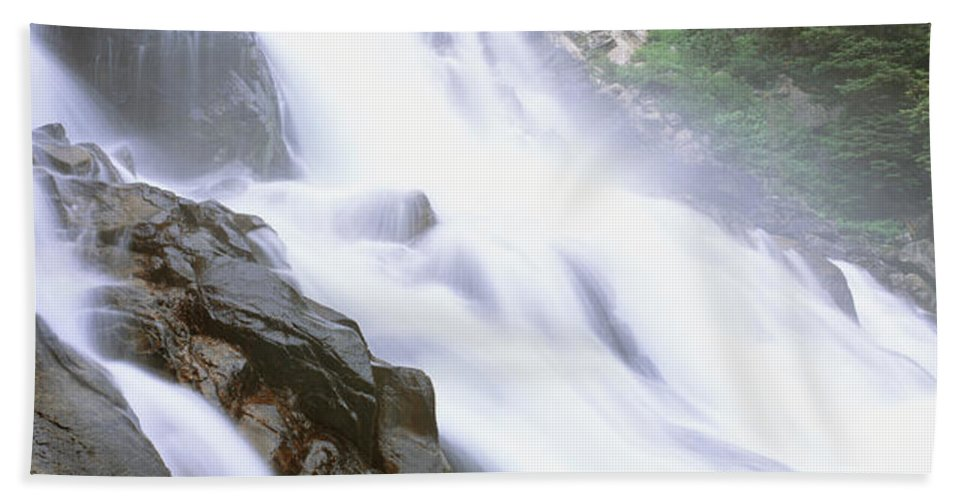 Photography Bath Sheet featuring the photograph Hidden Falls, Cascade Canyon, Grand by Panoramic Images