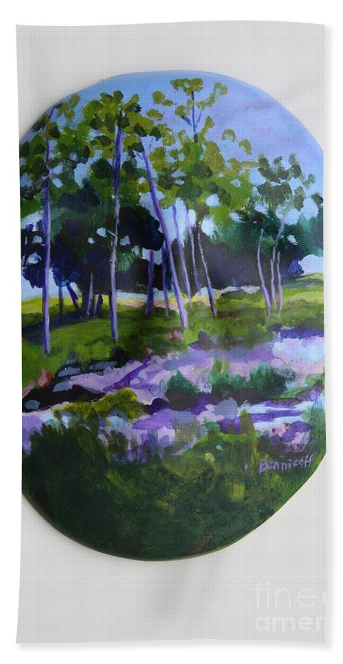 Nature Hand Towel featuring the painting Hidden Florida by Jan Bennicoff