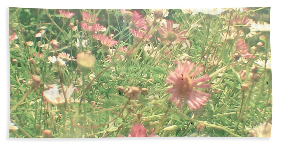Flower Photograph Bath Sheet featuring the photograph Hide And Seek by Cassia Beck