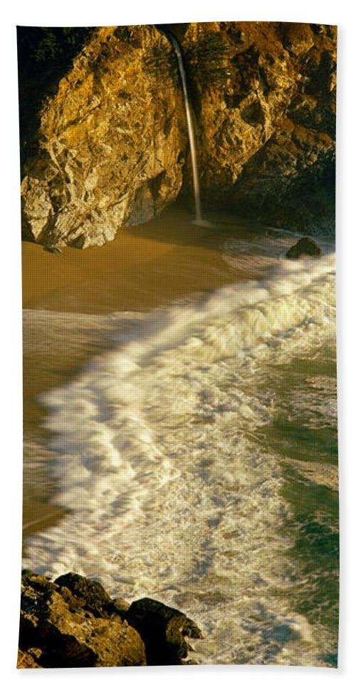Photography Hand Towel featuring the photograph High Angle View Of Waterfall by Panoramic Images