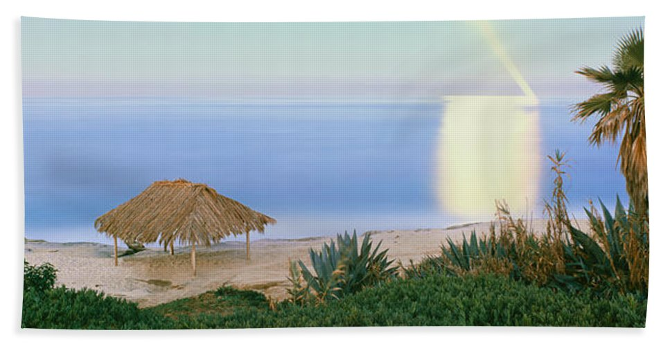 Photography Hand Towel featuring the photograph High Angle View Of Windansea Beach, La by Panoramic Images
