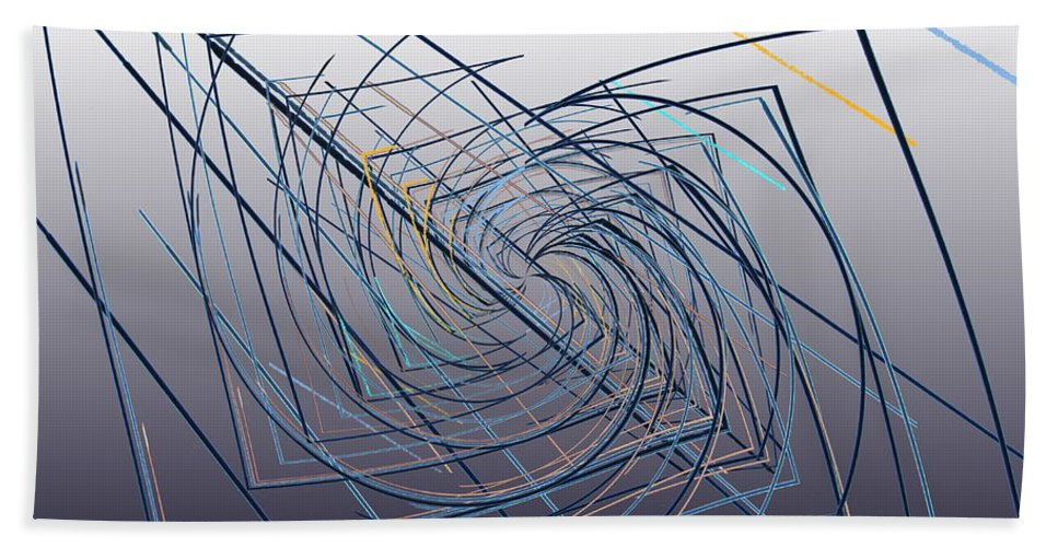 Abstract Bath Sheet featuring the digital art High Wire Act by Tim Allen