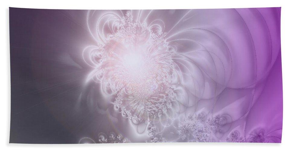 2-dimensional Hand Towel featuring the digital art High Strung by Dana Haynes