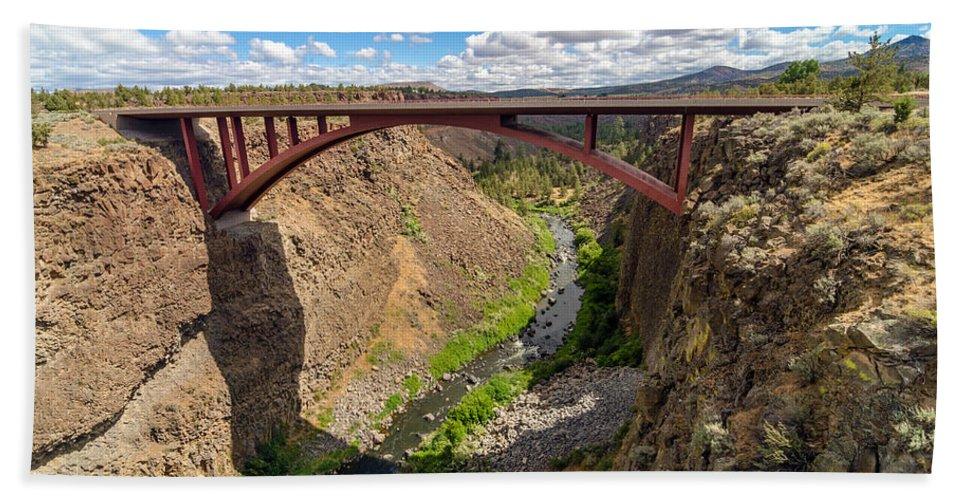 Bridge Hand Towel featuring the photograph Highway 97 Bridge by Jess Kraft