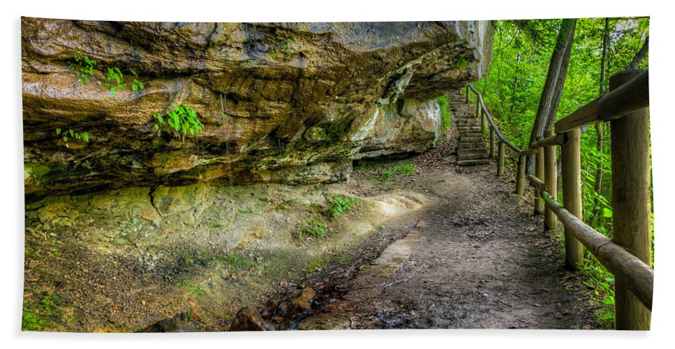 Trail Hand Towel featuring the photograph Hiking Trail by Alexey Stiop