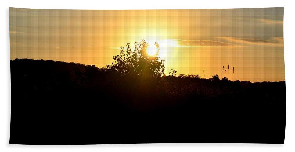 Hill Top Sunrise 2013 Bath Sheet featuring the photograph Hill Top Sunrise 2013 by Maria Urso