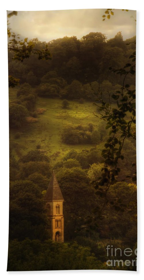 Church Hand Towel featuring the photograph Hillside Sanctuary by Margie Hurwich