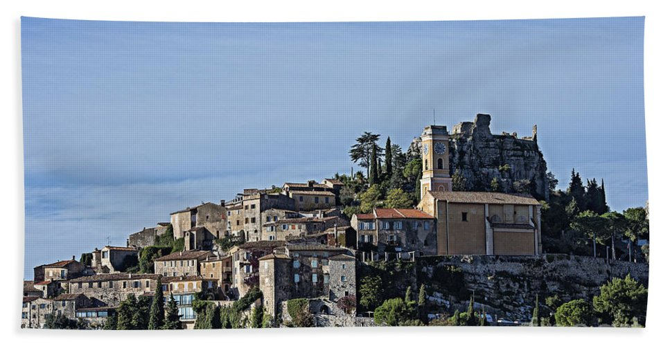 Alpes-maritimes Hand Towel featuring the photograph Hilltop Town Of Eza by John Greim