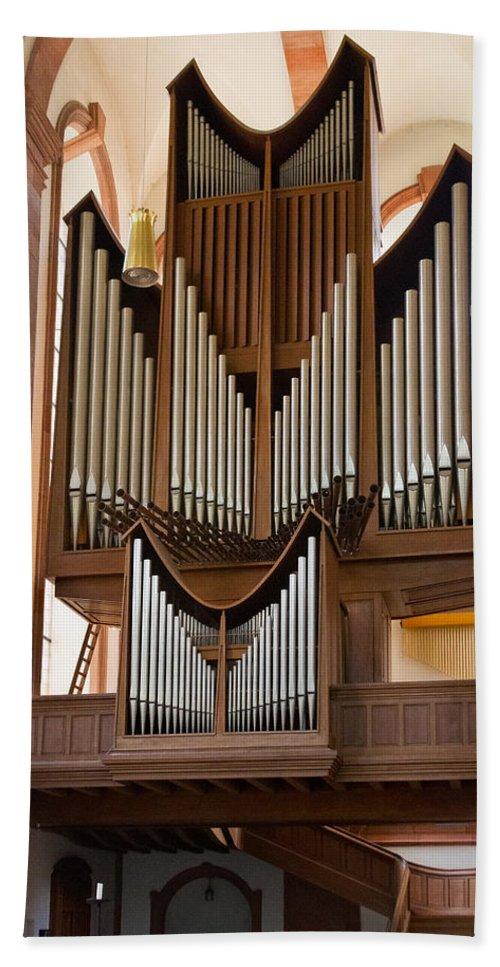 Germany Hand Towel featuring the photograph Himmerod Abbey Organ by Jenny Setchell