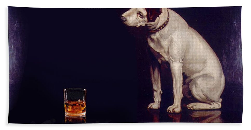 Parody Hand Towel featuring the digital art His Masters Vice by Tim Nyberg