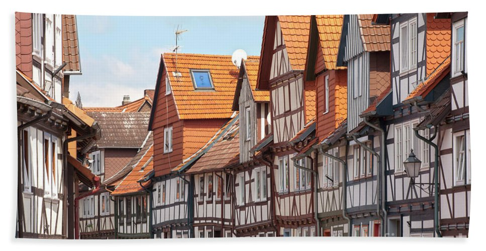 City Bath Sheet featuring the photograph Historic Houses In Germany by Heiko Koehrer-Wagner