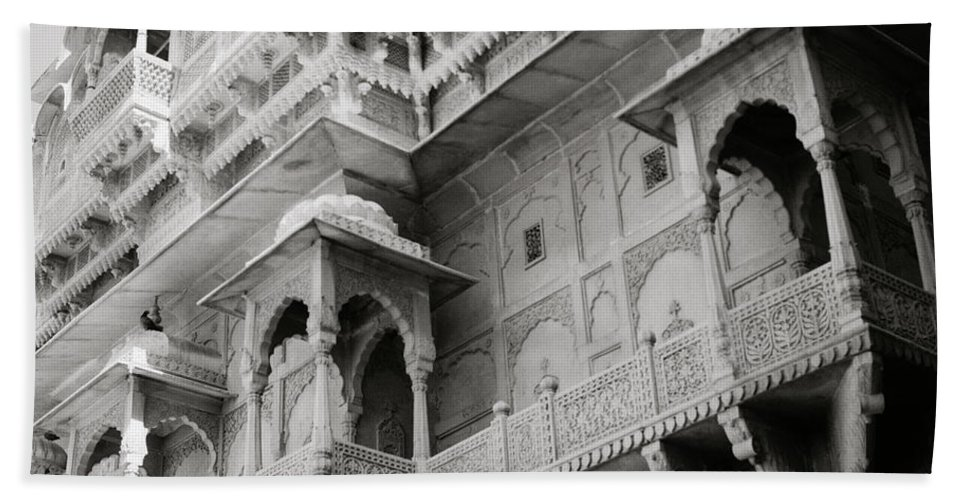 Architecture Bath Sheet featuring the photograph The History Of Rajasthan by Shaun Higson