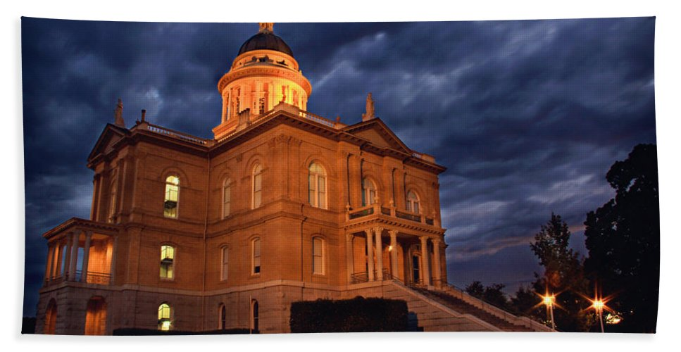 Historical Hand Towel featuring the photograph Historical Placer County Courthouse by Shawn McMillan