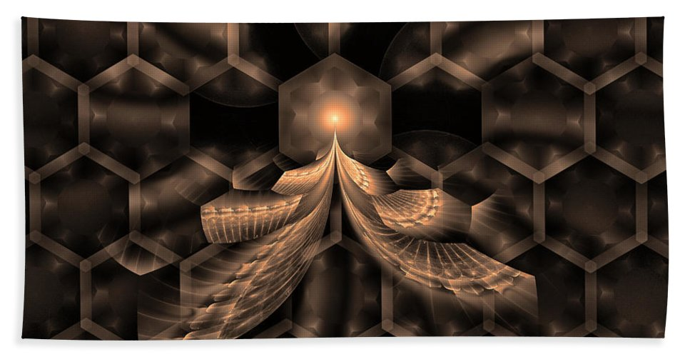 Fractal Hand Towel featuring the digital art Hive by GJ Blackman