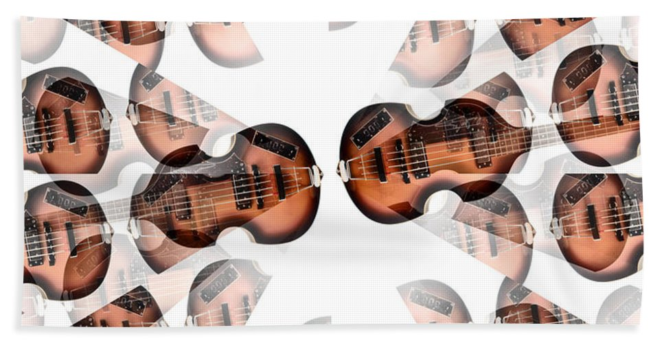 Hofner Bass Abstract Hand Towel featuring the photograph Hofner Bass Abstract by Bill Cannon