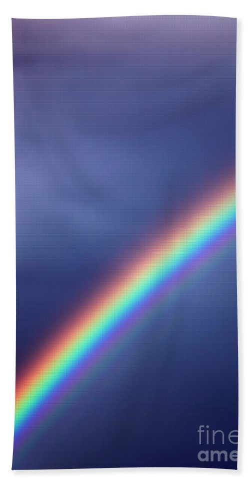 Rainbow Hand Towel featuring the photograph Hold On For Hope by Amanda Barcon
