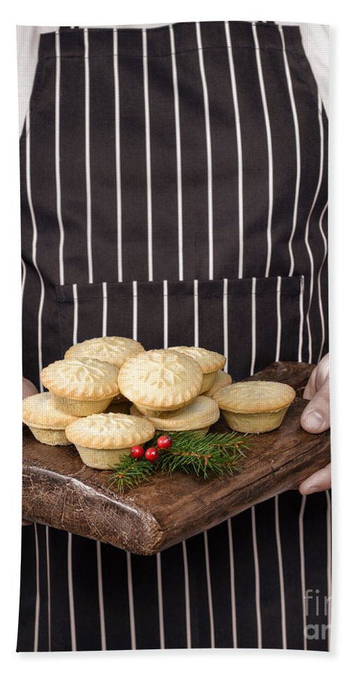 Mince Bath Sheet featuring the photograph Holding Mince Pies by Amanda Elwell
