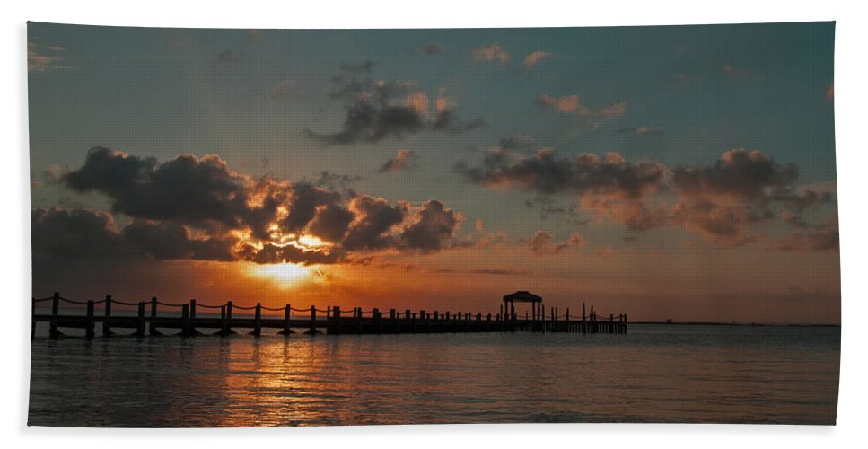 Sunset Hand Towel featuring the photograph Holgate Bay Sunset by Elsa Marie Santoro
