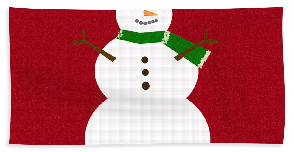 Christmas Hand Towel featuring the digital art Holiday Hugs by Amanda Barcon