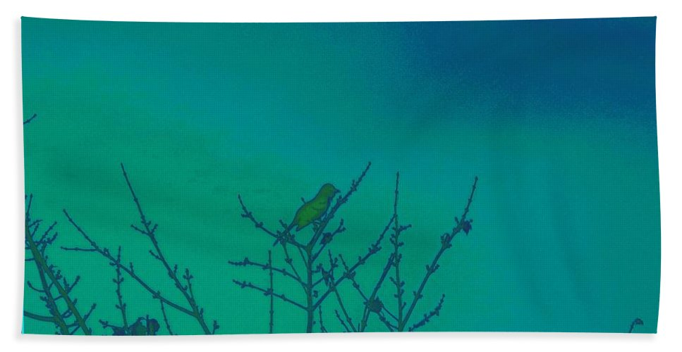 Posters Bath Sheet featuring the digital art Holiday With Nature by Sonali Gangane