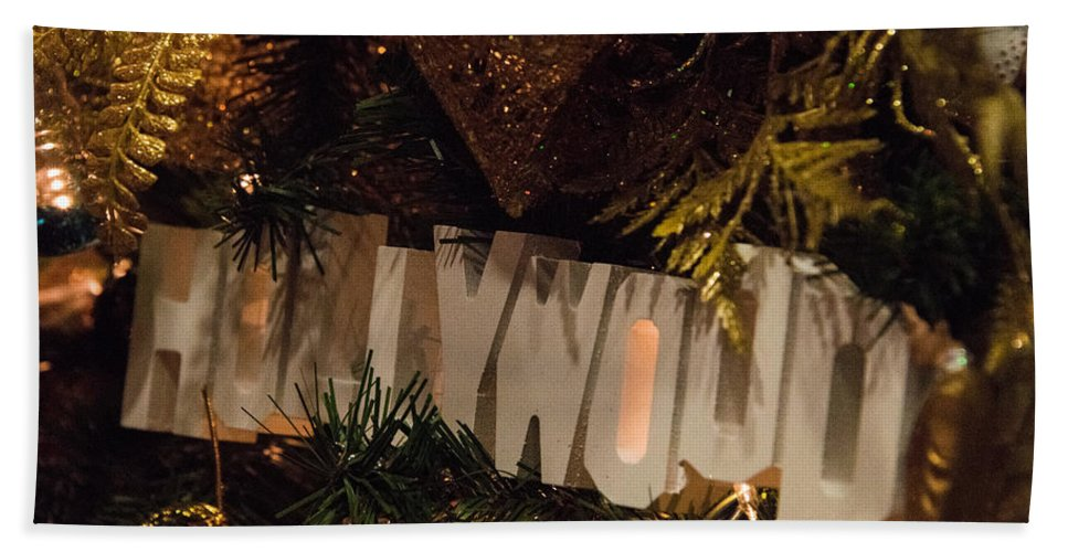 Holiday Decorations Hand Towel featuring the photograph Hollywood Holidays by Lee Roth