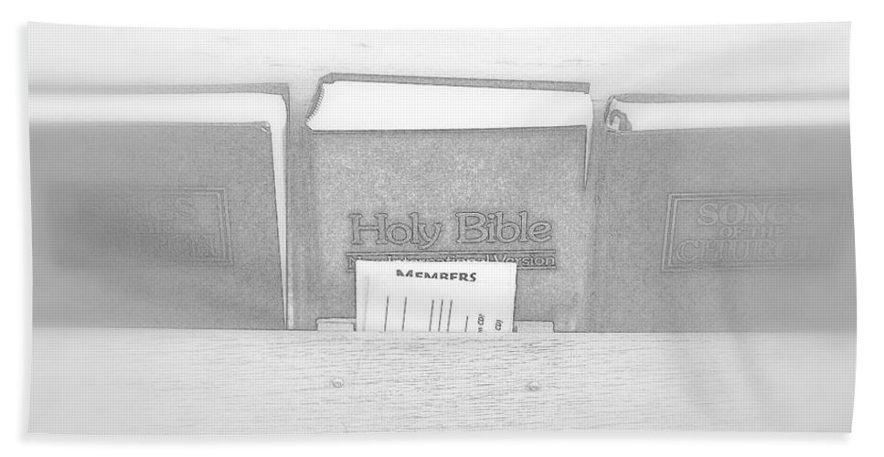 Holy Bath Sheet featuring the photograph Holy Bible by Valentino Visentini