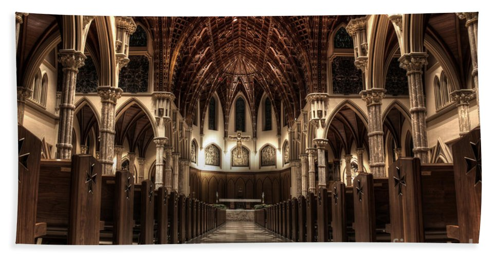 Canon Bath Sheet featuring the photograph Holy Name Cathedral by Steven K Sembach