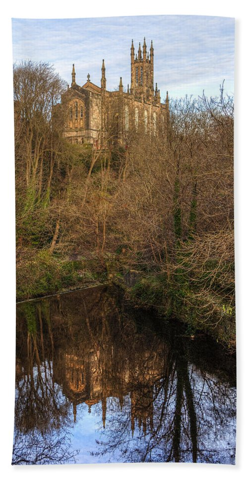 Holy Bath Sheet featuring the photograph Holy Trinity Reflections by Ross G Strachan