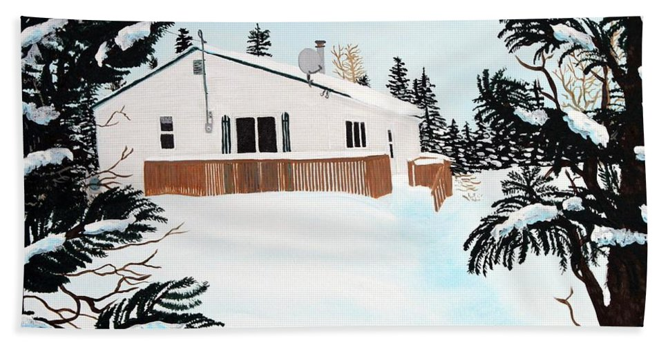 Home Bath Sheet featuring the painting Home Away From Home by Barbara Griffin