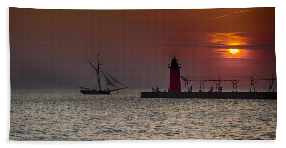 South Haven Bath Sheet featuring the photograph Home Bound by Jack R Perry