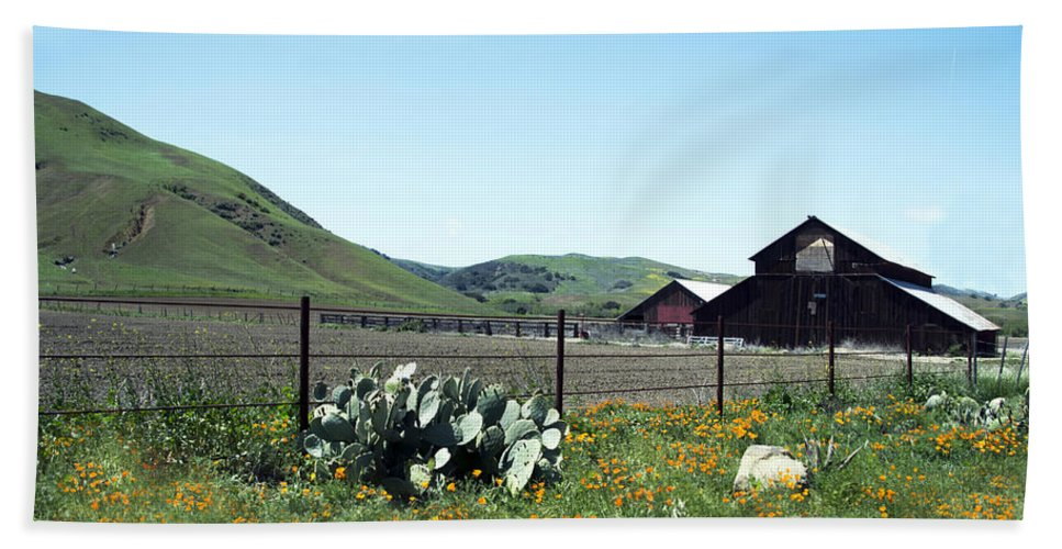 Home Home On The Range Hand Towel featuring the digital art Home Home On The Range by Barbara Snyder
