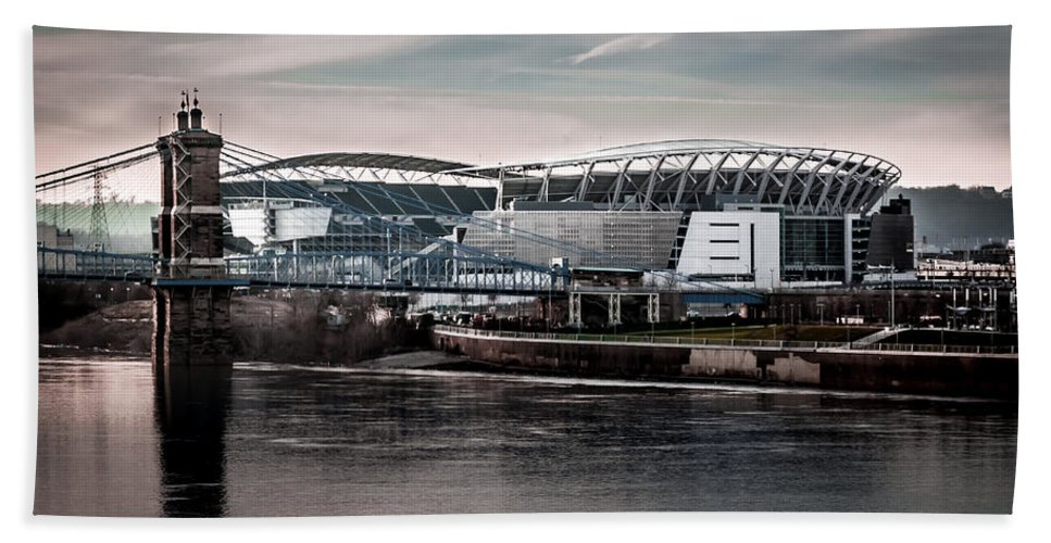 Bengals Hand Towel featuring the photograph Home Of The Bengals by Ron Pate