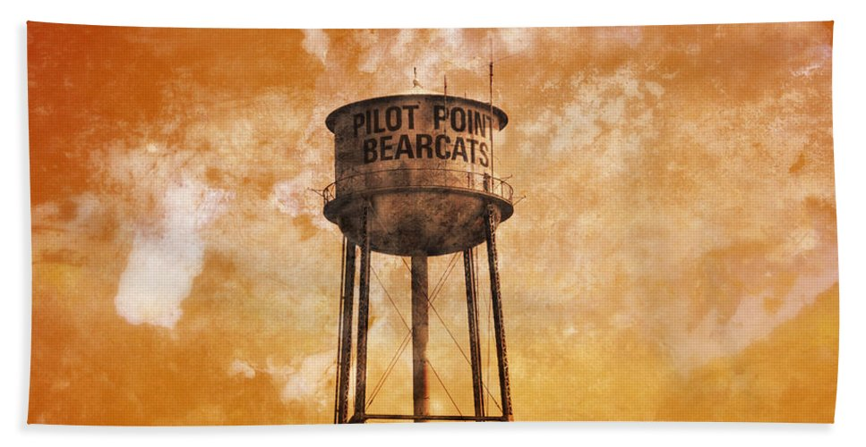 Home Bath Sheet featuring the photograph Home Of The Pilot Point Bearcats by Douglas Barnard