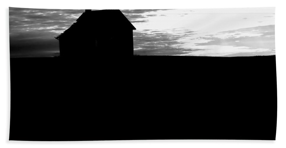 Homestead Hand Towel featuring the photograph Homestead Series In Silhouette by Cathy Anderson