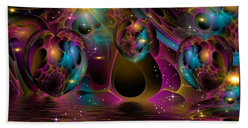 Phil Sadler Hand Towel featuring the digital art Honeycomb Too by Phil Sadler