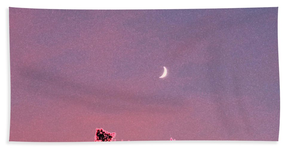 First Star Hand Towel featuring the mixed media Honeymoon By Jrr by First Star Art