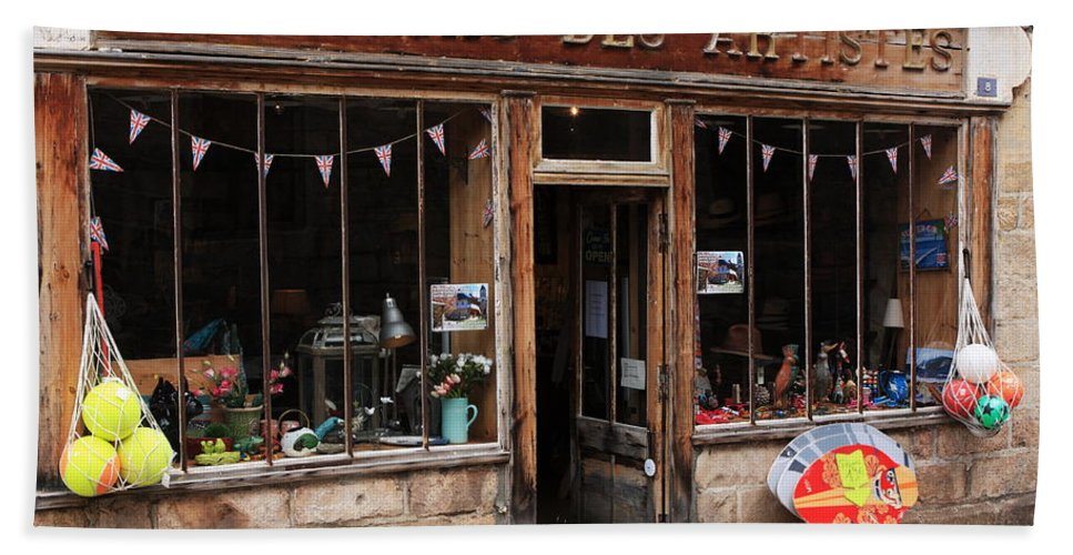 France Hand Towel featuring the photograph Honfleur Shop Front by Aidan Moran
