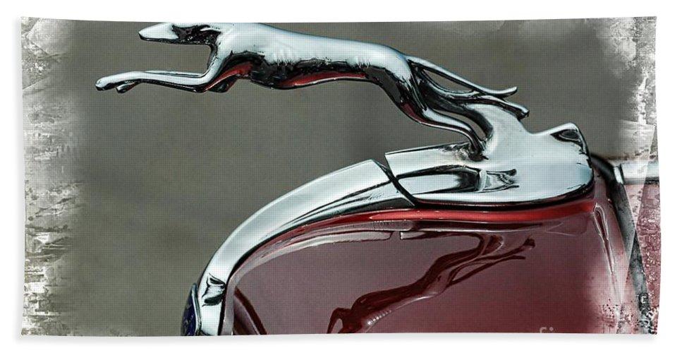 Jaguar Bath Sheet featuring the photograph Hood Ornament by Kathleen Struckle