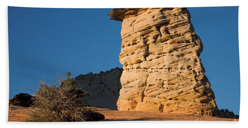 Autumn Bath Sheet featuring the photograph Hoodoos At Sunset by Fred Stearns