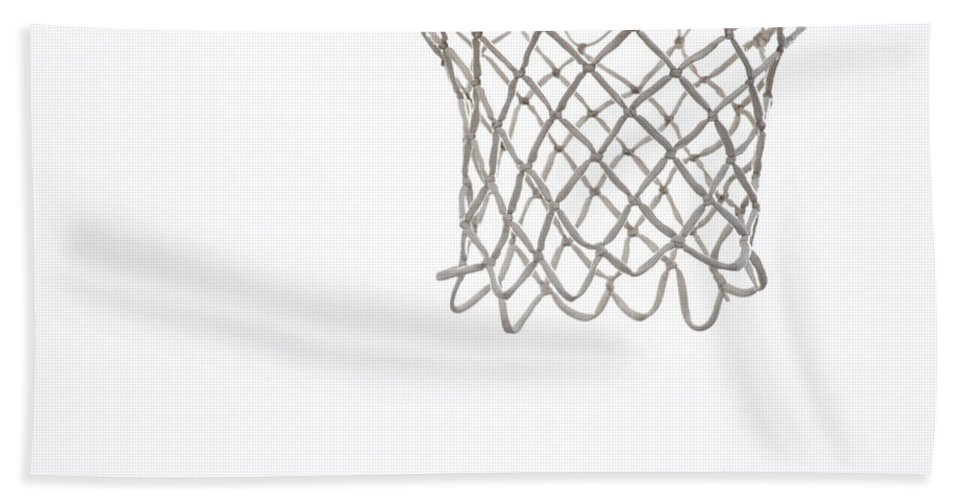 Basketball Hand Towel featuring the photograph Hoops by Karol Livote