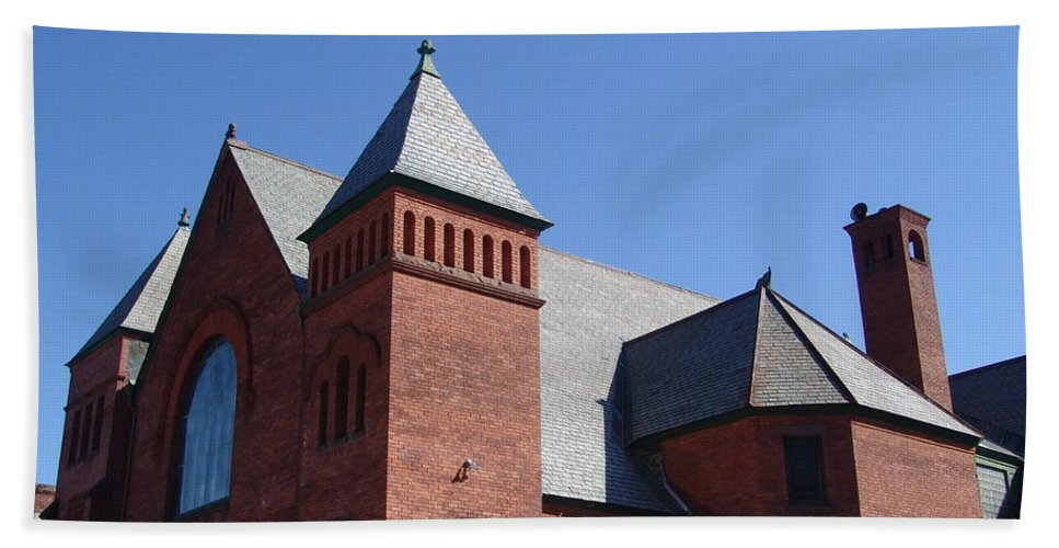 Brich Church Hand Towel featuring the photograph Hoosick Falls Church by Eric Swan