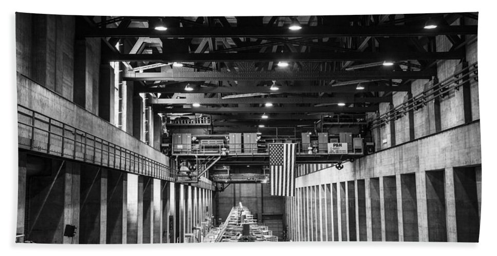 Nevada Hand Towel featuring the photograph Hoover Dam Generators by Angus Hooper Iii