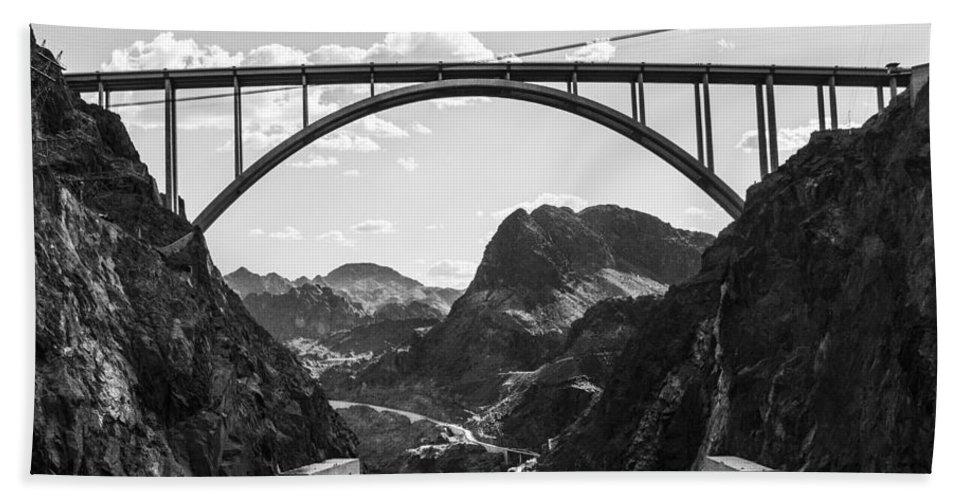 Nevada Hand Towel featuring the photograph Hoover Dam Memorial Bridge by Angus Hooper Iii