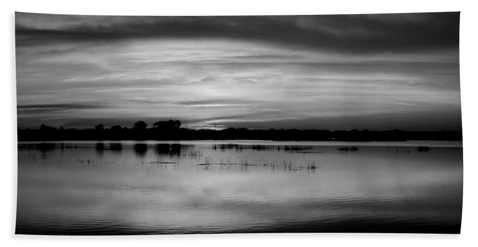 Marsh Hand Towel featuring the photograph Horizons Bw by Bonfire Photography